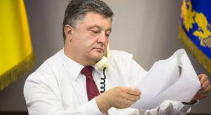 Telefonon hív szavazni Porosenko