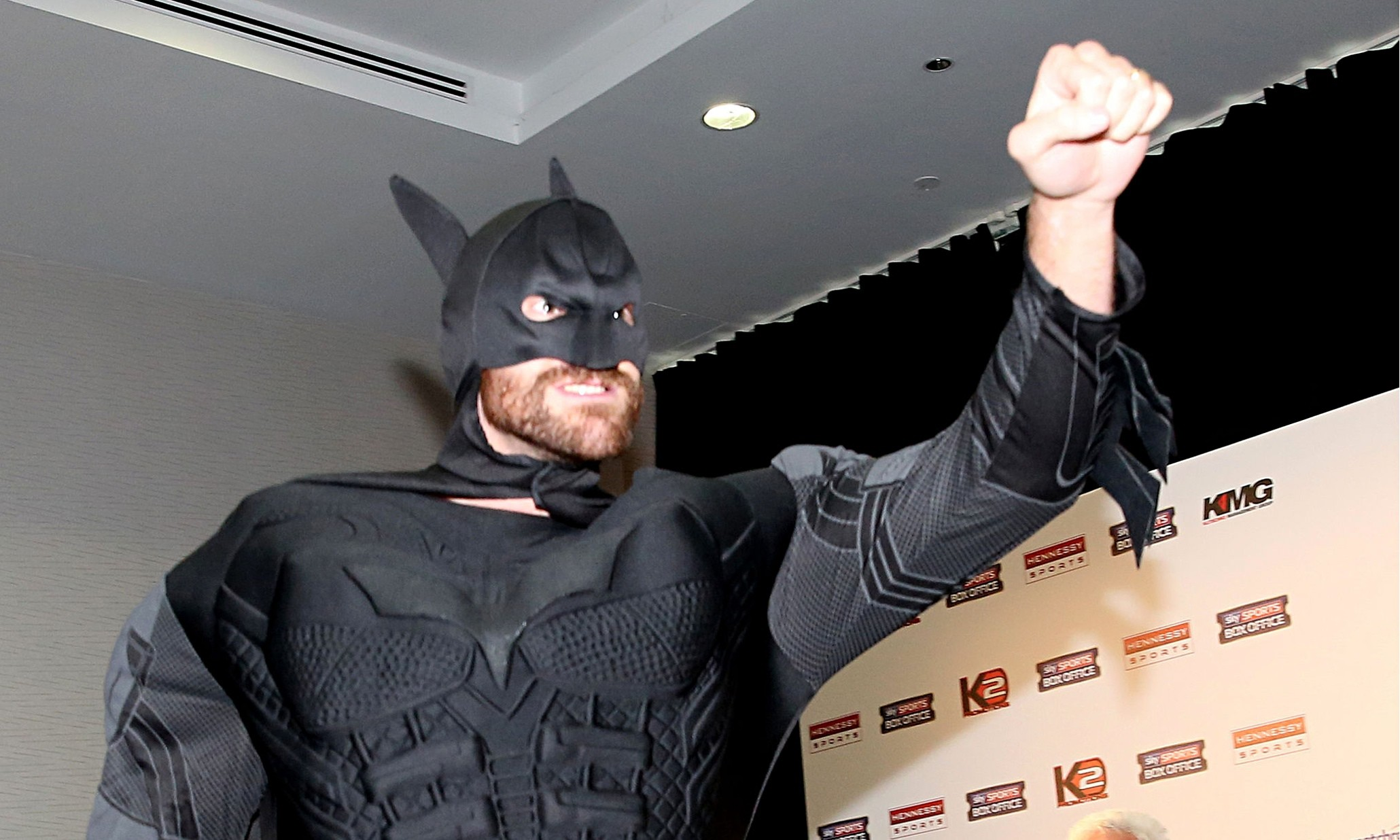 Tyson Fury emerges as the caped crusader in the buildup to his fight with Wladimir Klitschko.