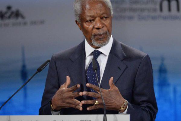 Meghalt Kofi Annan